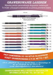 reklama długopisy